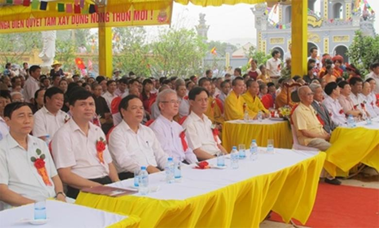 Các đại biệu dự lễ khanh thành khu di tích lịch sử chùa Hàn Sơn
