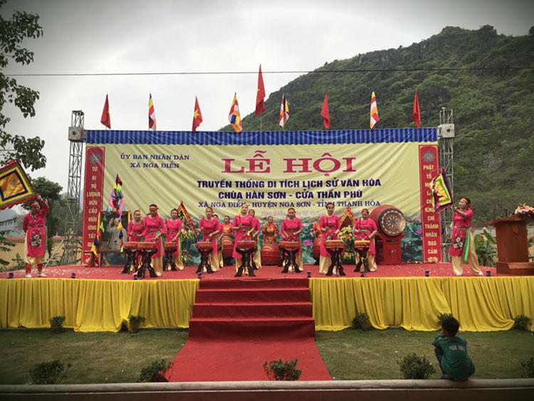 Khai mạc lễ hội văn hóa chùa hàn Sơn - Cửa Thần Phù 2018